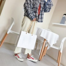 Women Plain Classy Shoulder Bag Chain Handle Large Capacity Female Office Bag