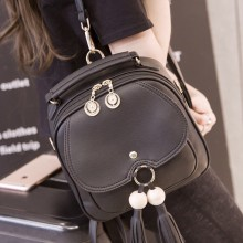 [READY STOCK] Women Cute Mini Backpack Tassel Fringe Wild Trend Female Fashion Mobile Bag