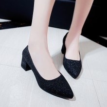 Women Metallic Sexy Pointed High Heels Casual Business Plus Size Ladies Shoes