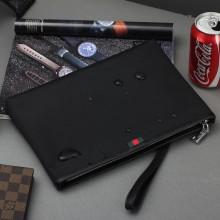 Men's Black Casual Mobile Phone Bag Mini Messenger Hot Trend Clutch Hand Bag