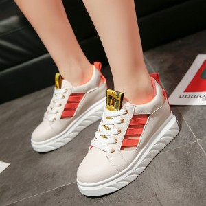 Women Breathable Sports Rubber Shoes Muffin Thick Heels Wild Plus Size Sneakers