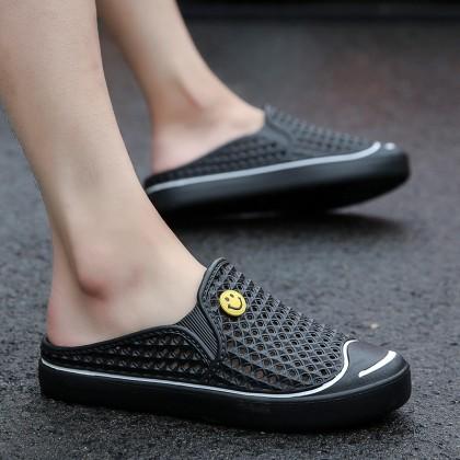 Men's Half Slipper Close Toe Summer Cool Slippers Couple Plus Size Flip Flops