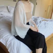 Women Chiffon Shawl Thin Light Summer Protection Loose Ladies Short Cardigan