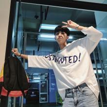 Men's Super Loose Statement T Shirt Round Neck Hip Hop Fashion Plus Size Tops