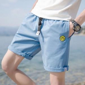 Men's Smiley Casual Short Side Pocket Slim Fit Summer Beach Fashion Short Pants