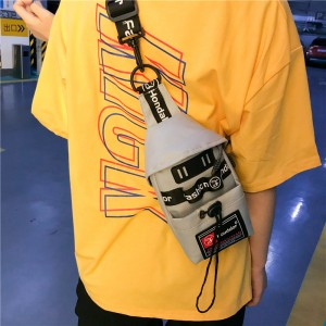 Men's Mini Chest Sport Bag Nylon Zippered Fashion Trend Unisex Couple Sling Bag