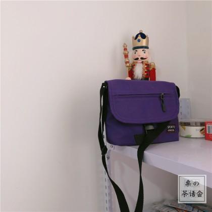Men's Harajuku Style Messenger Bag Street Fashion Unisex Couple Sling Bag