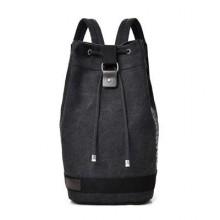 Men's Bucket Drum Backpack Large Capacity Travel Luggage Outdoor Hiking Bag