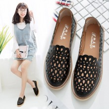 Women Breathable Loafers Wild Retro Trend Working Shoes Ladies Plus Size Flats