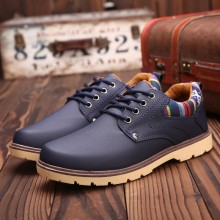 Men's Waterproof Working Shoes Lace Up Winter Boots Fashion Casual Male Shoes