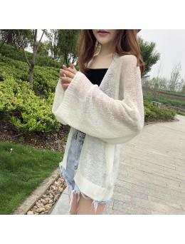 Women Lazy Wind Sweater Loose Long Sleeve Korean Fashion Ladies Chic Cardigan