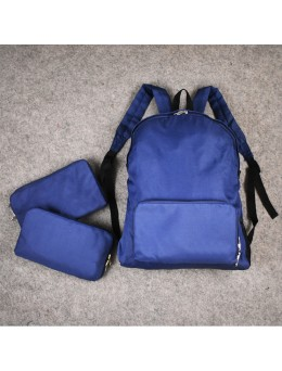 Men's Blue Classic Super Sports Backpack Training Gear Street Basketball Bag