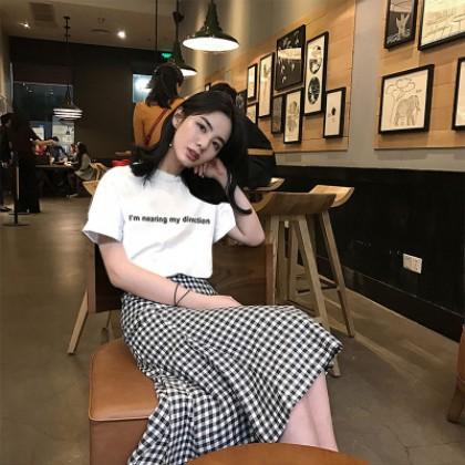 Women Basic Shirt Stripes Long Skirt Dress Set Slim Fit Fashion Plus Size Dress
