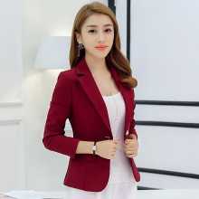 Women Solid Color Casual Blazer Business Fashion Suit Ladies Plus Size Jacket