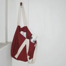 Women Red Big Canvas Bag Large Capacity Shoulder Bag Soft Handle Shoulder Strap