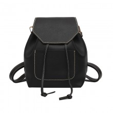 Women Solid Color Simple Fashion Campus Trend New Wave Vertical Square Backpack