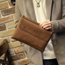 Men's Soft Leather Clutch Bag Casual Business Envelope Male Fashion Hand Bag