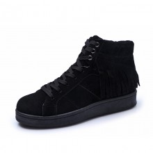 Women Suede Warm Snow Winter Boots Lace Up Flat Bottom Ladies Chic Fashion Boots