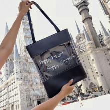 Women Statement Transparent Jelly Bag Simple Tote Ladies Fashion Shoulder Bag