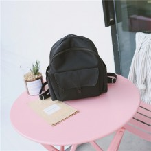 Women Solid Color Simple Campus Fashion Backpack Korean Trend Ladies Backpack