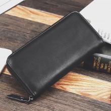 Men's Black Leather Versatile Mobile Phone Bag Casual Male Fashion Wallet