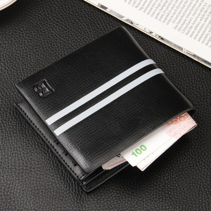 Men's Leather One Fold Mini Wallet Multi Card Business Casual Fashion Wallet