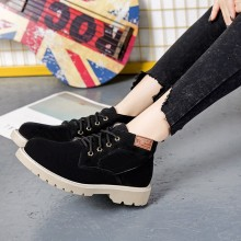 Women Martin Boots Lace Up Motorcycle Shoes Wild Retro Trend Chic Fashion Boots