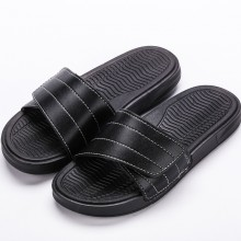 Men's Velcro Leather Surface Summer Fashion Slippers Indoor Outdoor Flip Flops