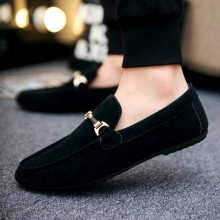 Men's Suede Royal Peas Shoes Hot Trend Male Fashion Must Have Casual Flat Shoes