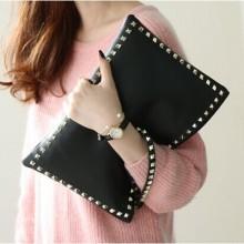 Black Rivet Envelope Handbag Women
