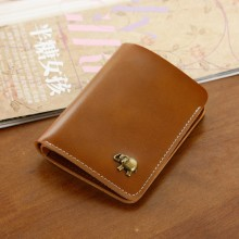 Men's Small Long Thin Wallet Card Compartment Solid Color Unisex Fashion Wallet