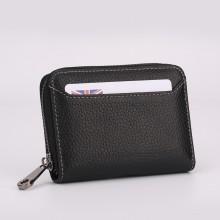 Men's Mini Multi Card Holder Zippered Hot Trend Wallet Unisex Fashion Purse