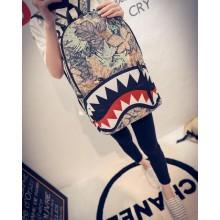 Men's Monster Grimace Backpack Hot Trend Fashion Canvas Unisex Couple Backpack