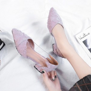 Women Fairy Feathers Sexy Stiletto Pointed Jelly Chic Fashion Classy High Heels