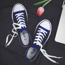 Men's Basic Lace Up Low Heel Sneakers Classic Canvas Student Fashion Board Shoes