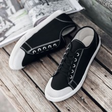 Men's Cloth Lace Up Canvas Shoes Classic Board Trendy Daily Wear Fashion Shoes