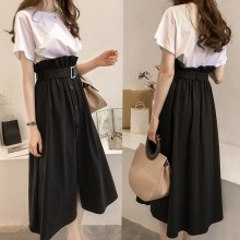 Women Basic Loose Shirt High Waist Long Skirt Classy Fashion Plus Size Dress Set