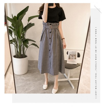 Women Basic Loose Shirt High Waist Long Skirt Classy Fashion Plus Size Dress Set