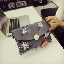 Women Embroidered Clutch Bag Thin Envelope Mobile Purse Small Fashion Hand Bag