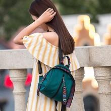 Women Nylon Cloth Waterproof Cute Backpack Stylish Chic Wild Fashion Ladies Bag