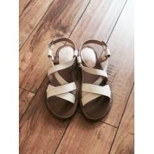 Beige Sandals Flats Beach Vintage