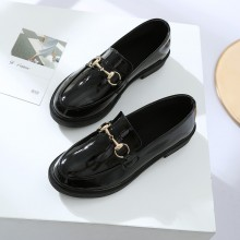Women Casual Black Low Heel Business Student Fashion Plus Size Female Flat Shoes