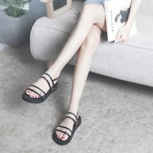 Women Roman Transparent Sandals Muffin Bottom Retro Plus Size Slipper Sandals