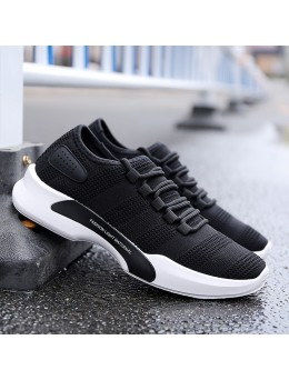 Men's Breathable Woven Mesh Sports Shoes Outdoor Running Male Trend Rubber Shoes