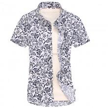 Men's Floral Trend Print Polo Shirt Short Sleeve Slim Fit Plus Size Polo T Shirt