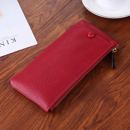 Men's Unisex Mobile Phone Bag Ultra Thin Mini Clutch Bag Fashion Zippered Wallet