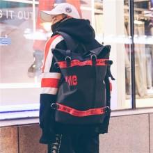 Men's Large Capacity Street Trend Retro Backpack Unisex Couple Fashion Backpack