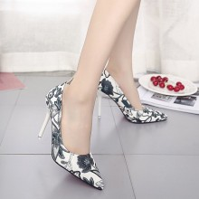 Women Classy Floral Sexy High Heels Retro Chic Fashion Ladies Stiletto Shoes