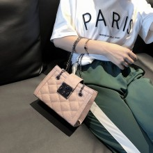 Women Chic Small Square Fashion Bag Chain Handle Trendy Ladies Shoulder Bag