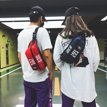 Men's Waterproof Multi Function Chest Bag Unisex Couple Sling Cross Body Bag